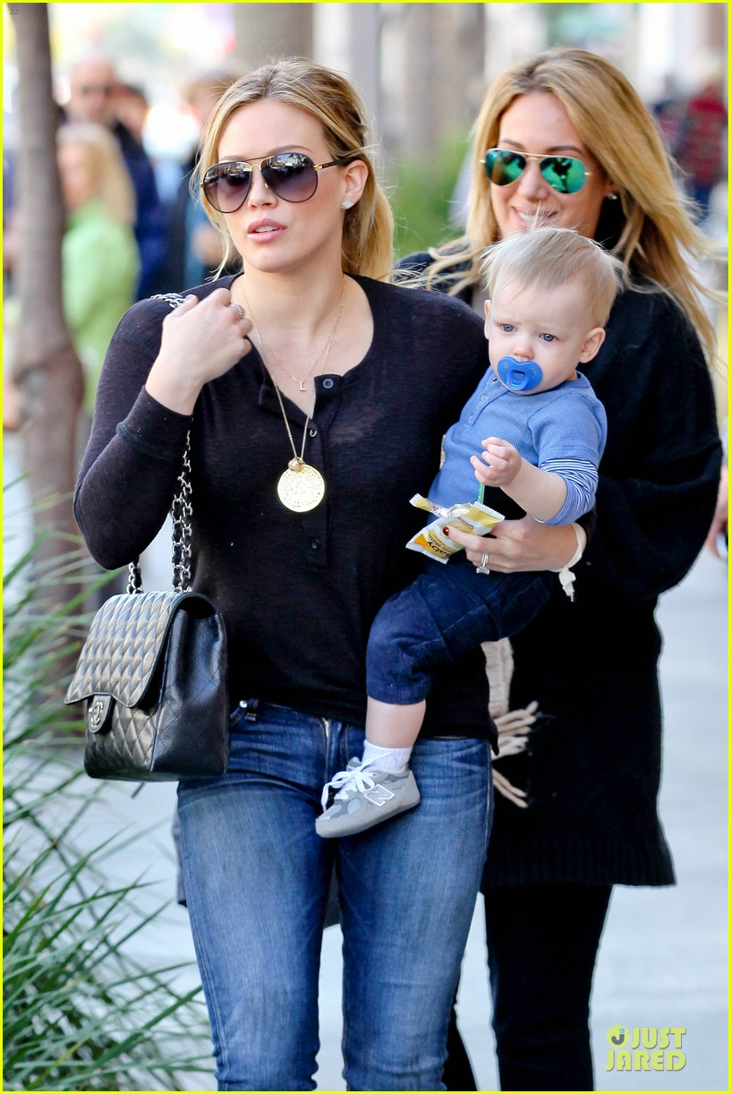 hilary duff & luca lunch with haylie 092779707