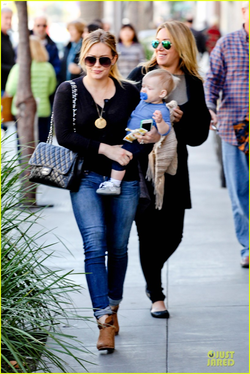 hilary duff & luca lunch with haylie 112779709