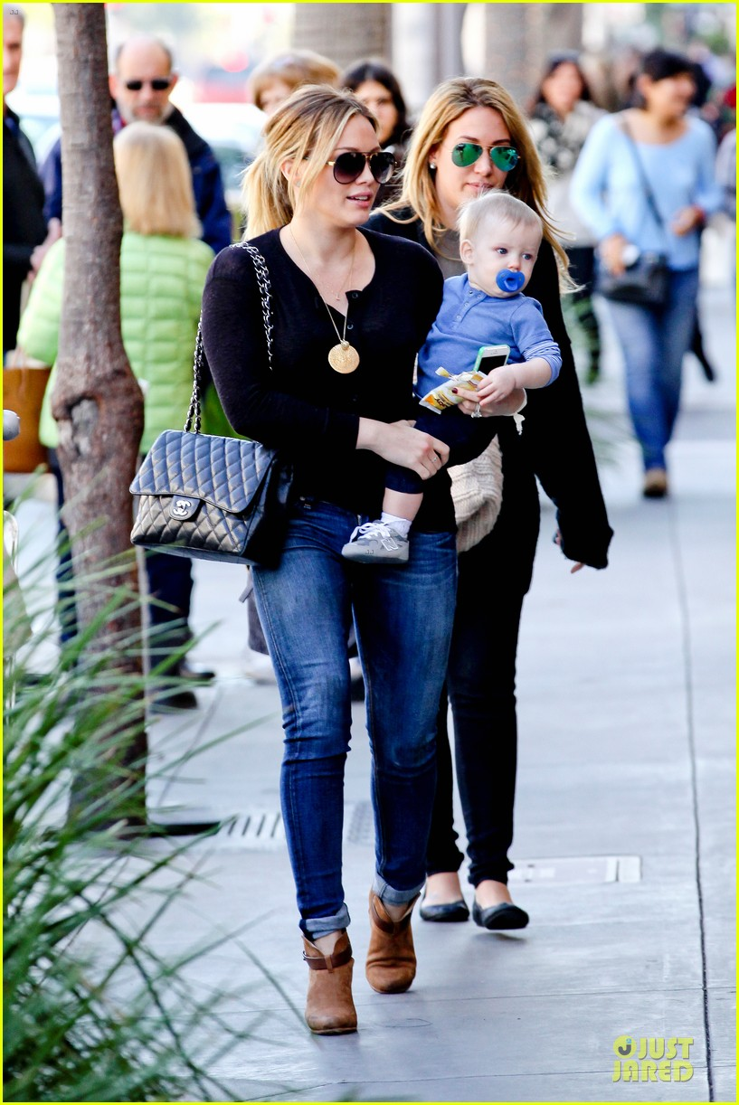 hilary duff & luca lunch with haylie 122779710