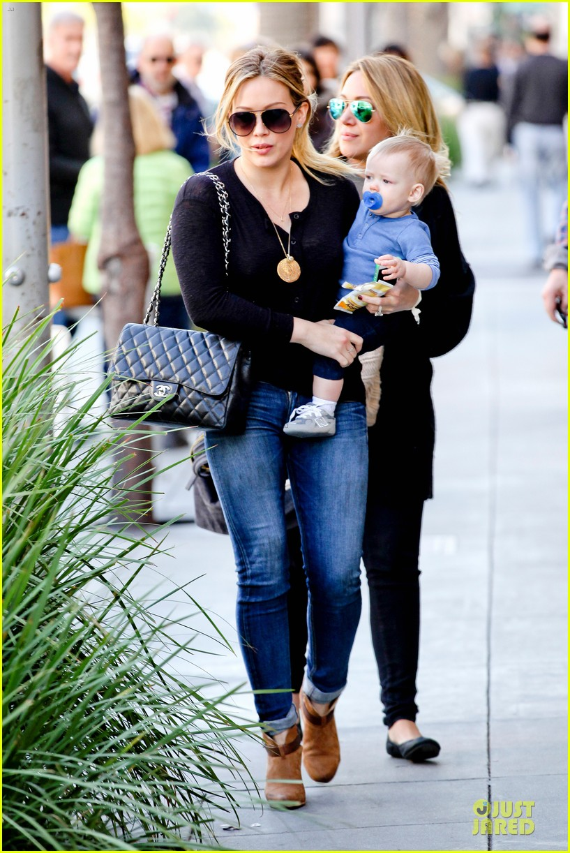 hilary duff & luca lunch with haylie 132779711