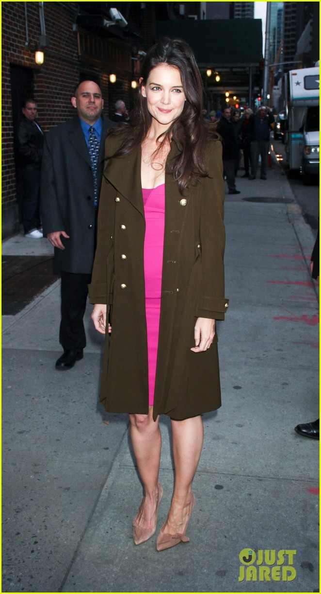 katie holmes david letterman appearance tonight 052778876