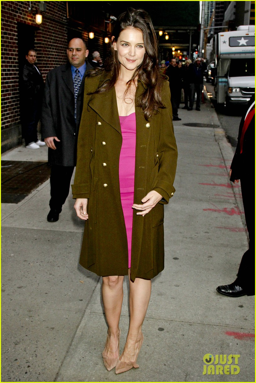 katie holmes david letterman appearance tonight 06