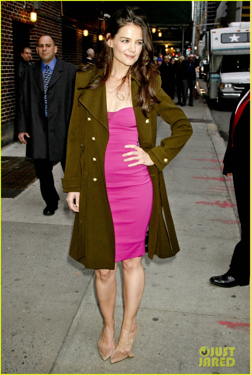 katie holmes david letterman appearance tonight 072778878