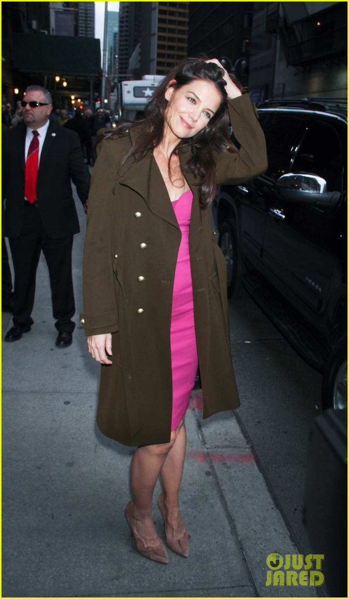katie holmes david letterman appearance tonight 14