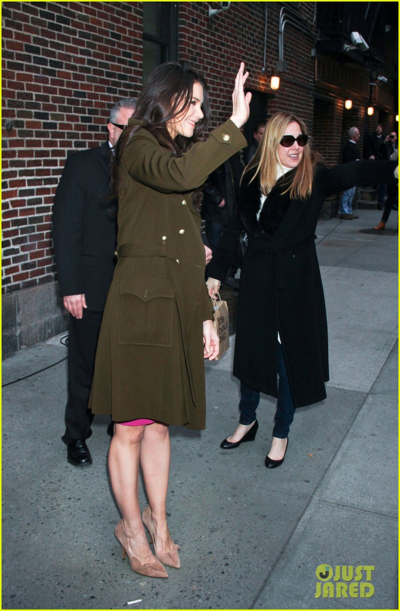 katie holmes david letterman appearance tonight 172778888