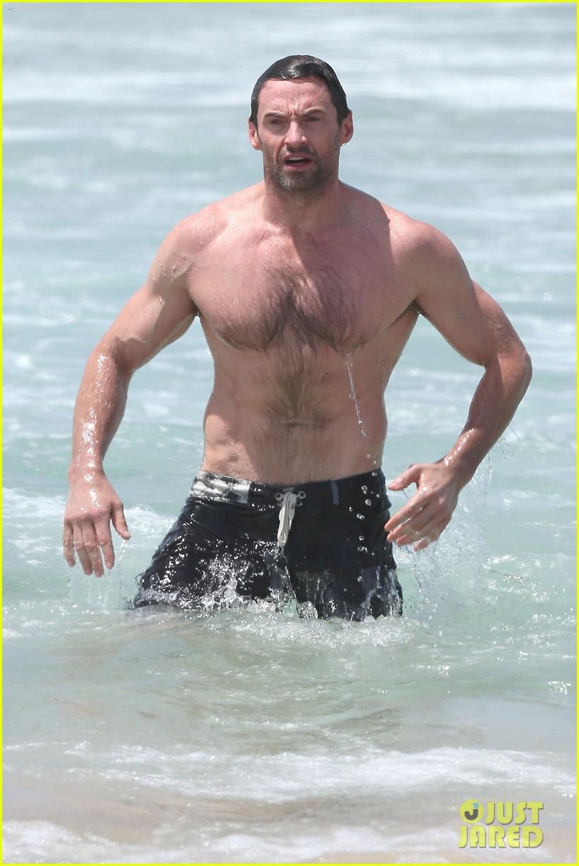 hugh jackman shirtless stud at bondi beach 022778384