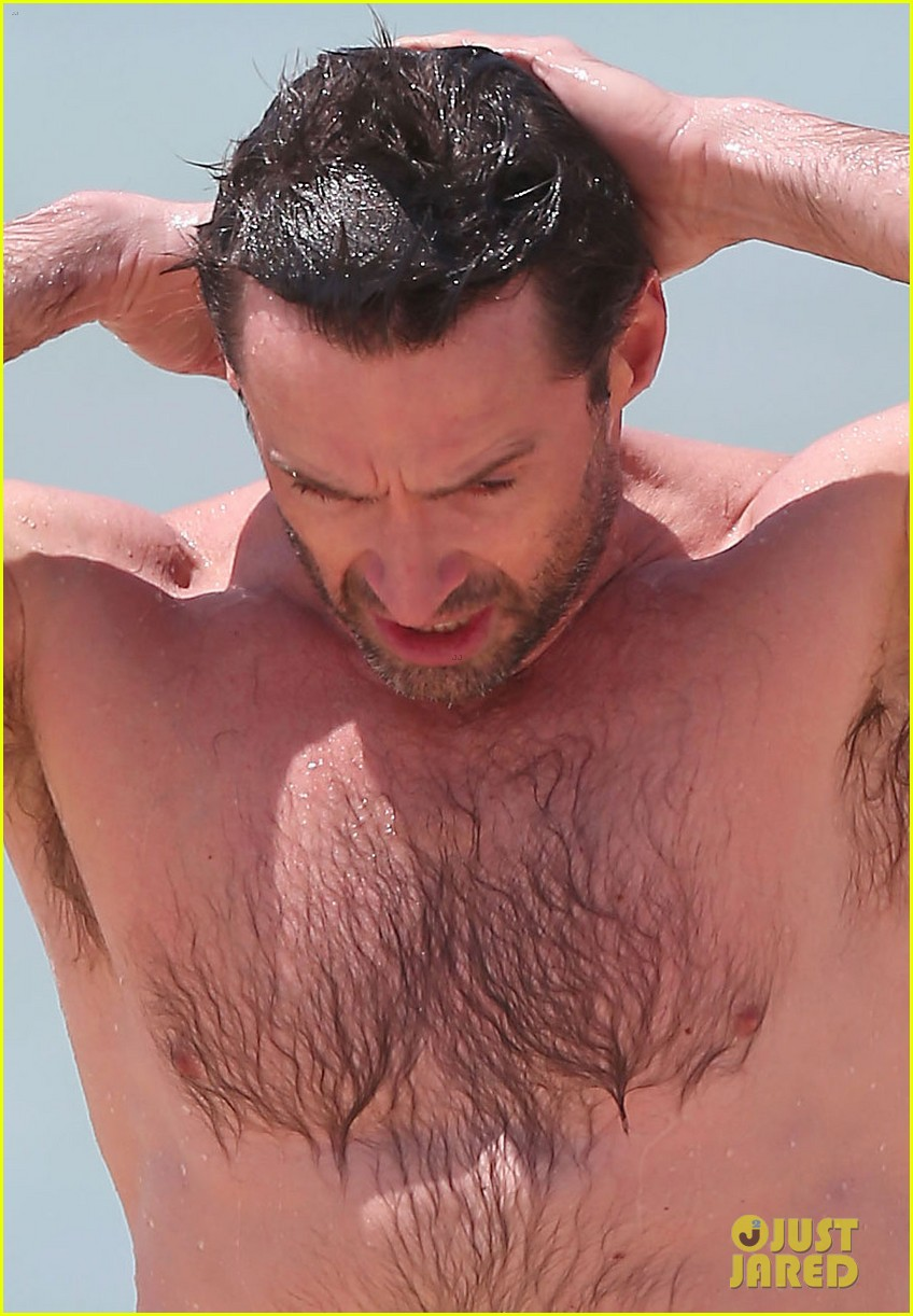 hugh jackman shirtless stud at bondi beach 042778386