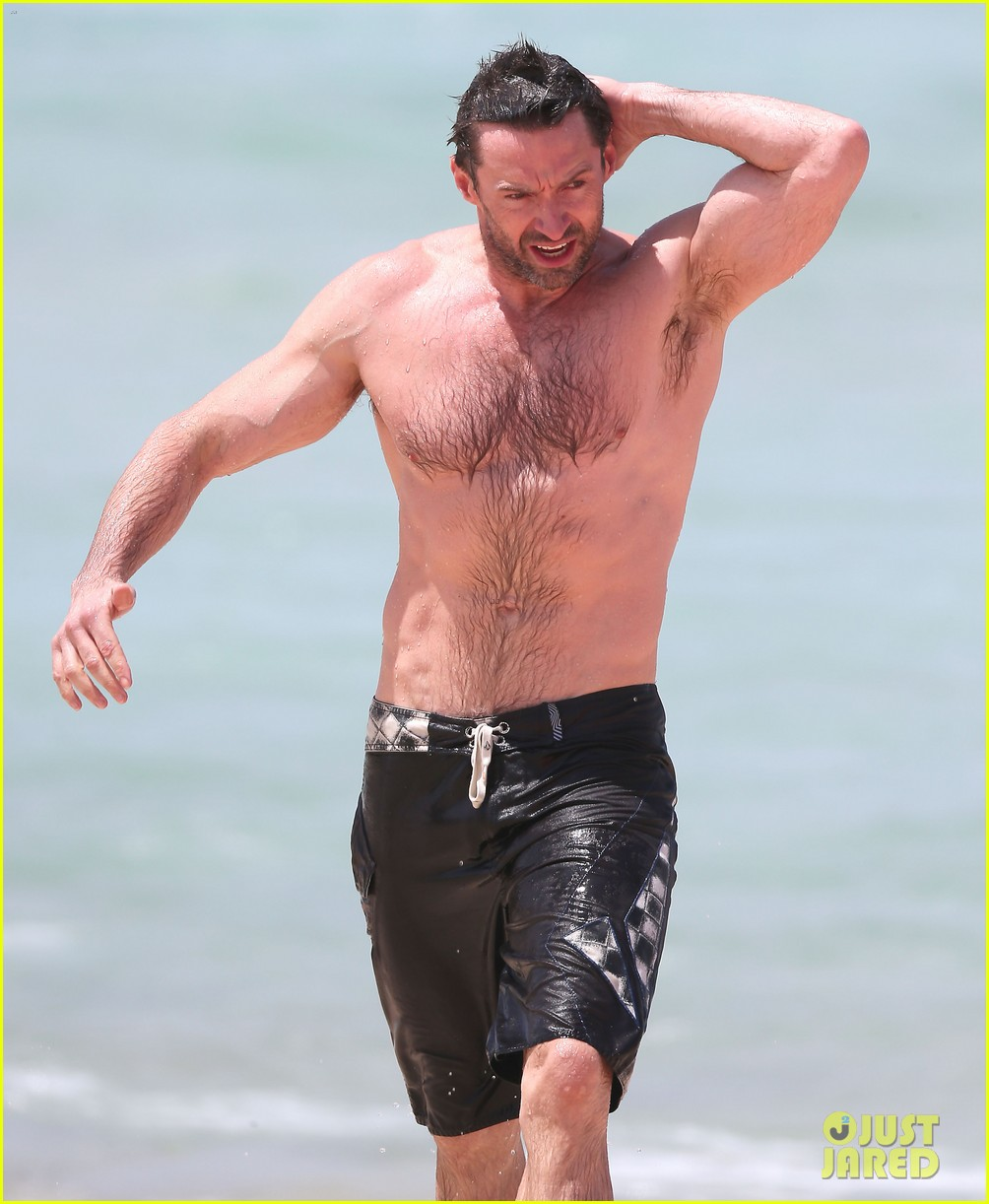 hugh jackman shirtless stud at bondi beach 052778387
