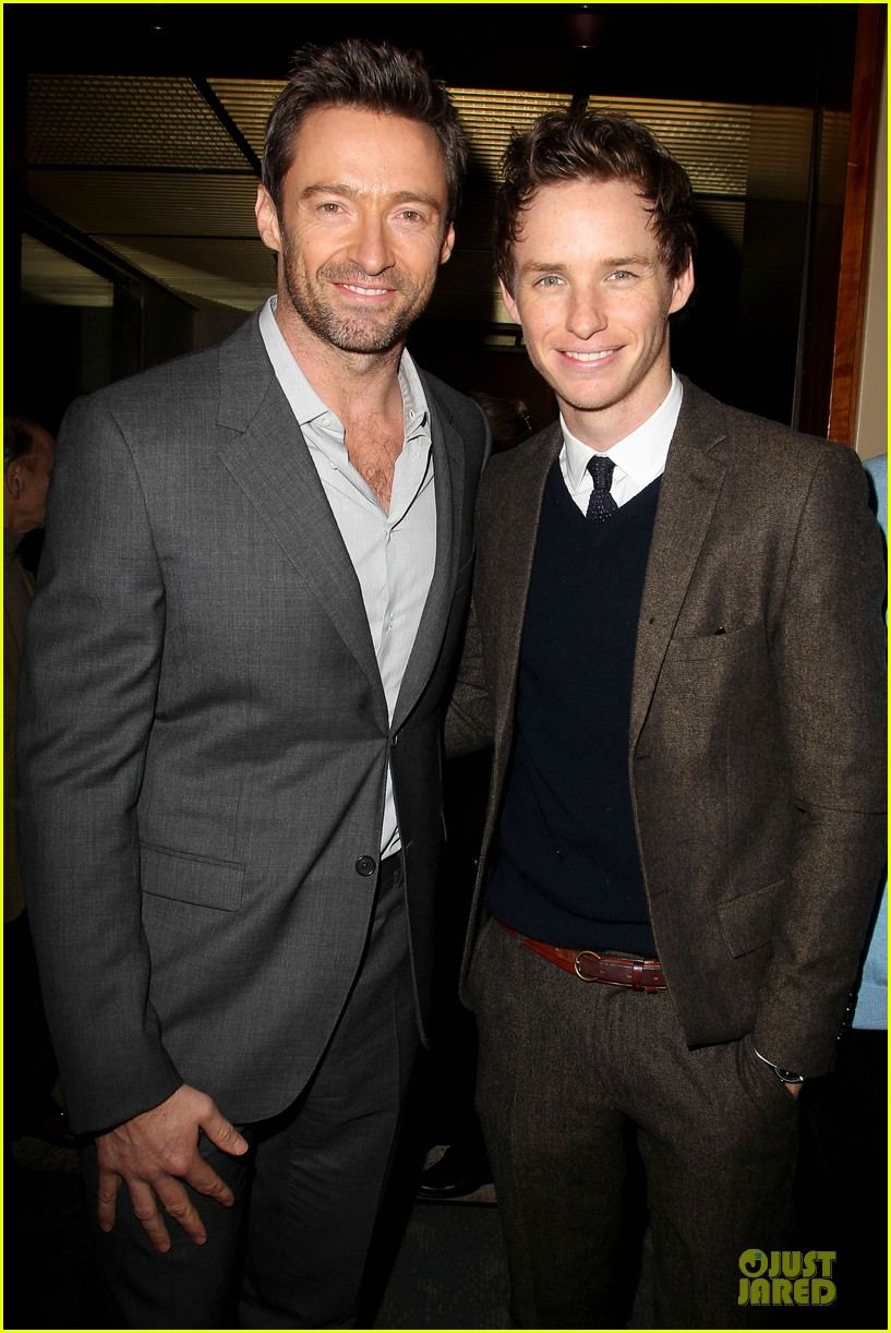 hugh jackman & eddie redmayne les miserables luncheon 04