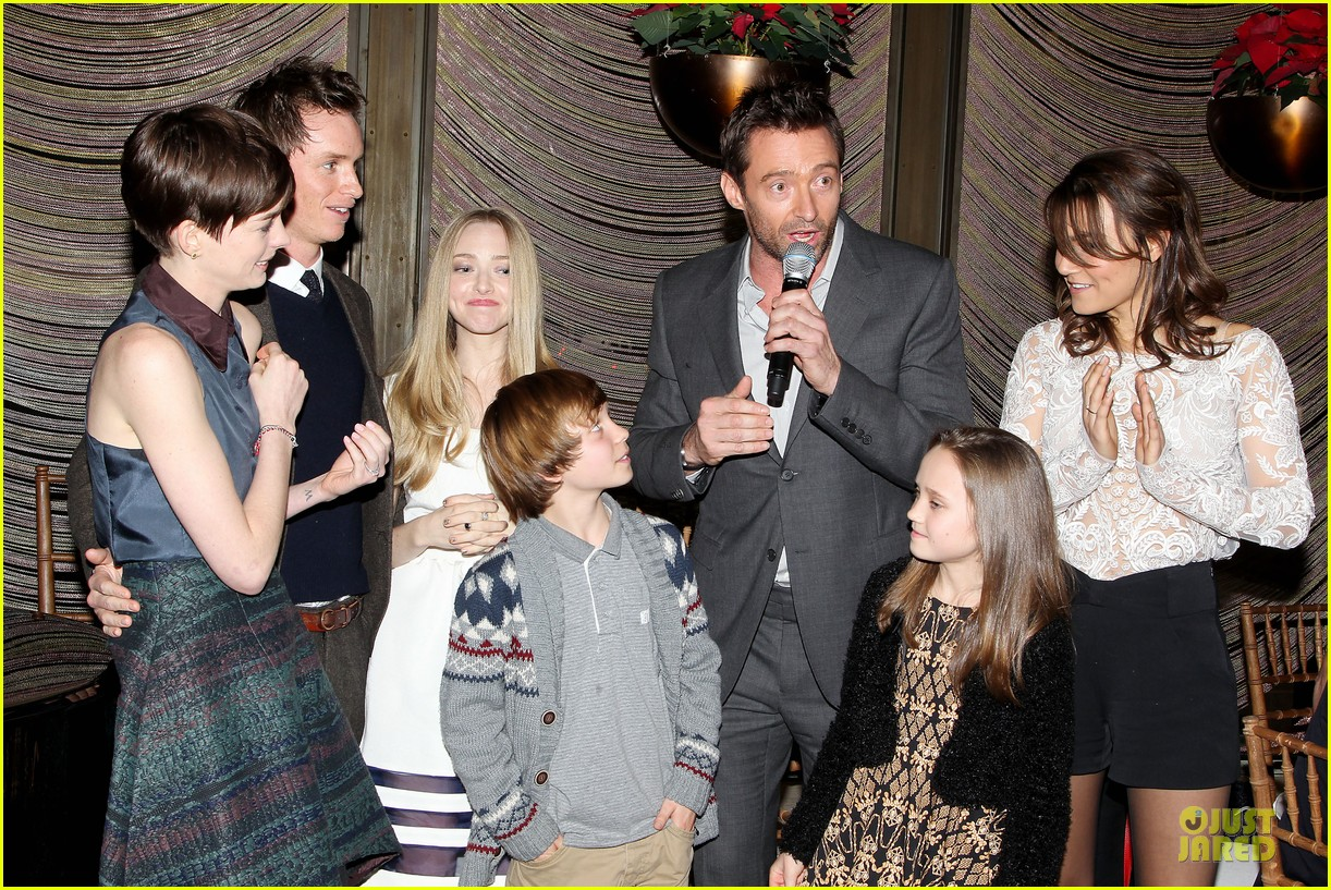 hugh jackman & eddie redmayne les miserables luncheon 392774037