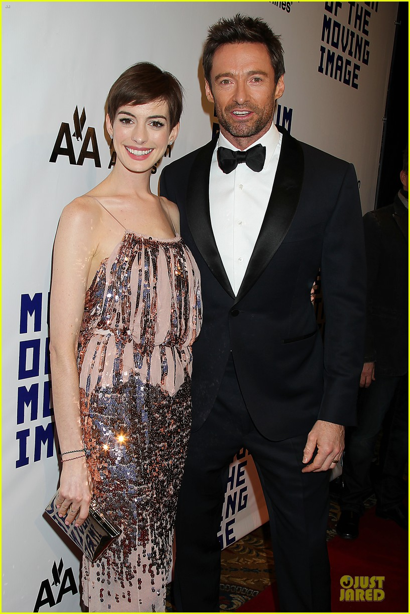 anne hathaway & hugh jackman museum of moving images salute 322774149