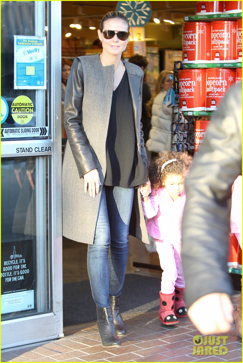 heidi klum martin kirsten lunch groceries with the kids 13