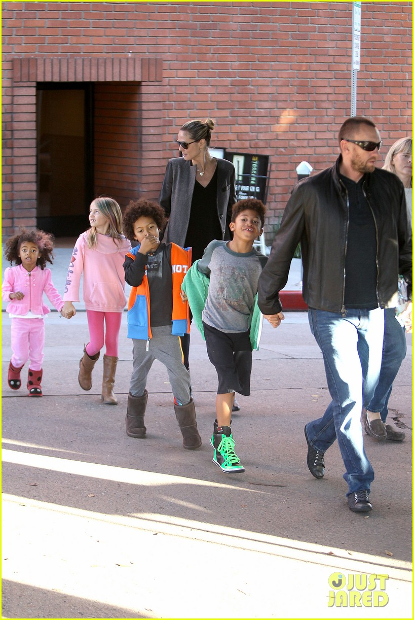 heidi klum martin kirsten lunch groceries with the kids 222781269