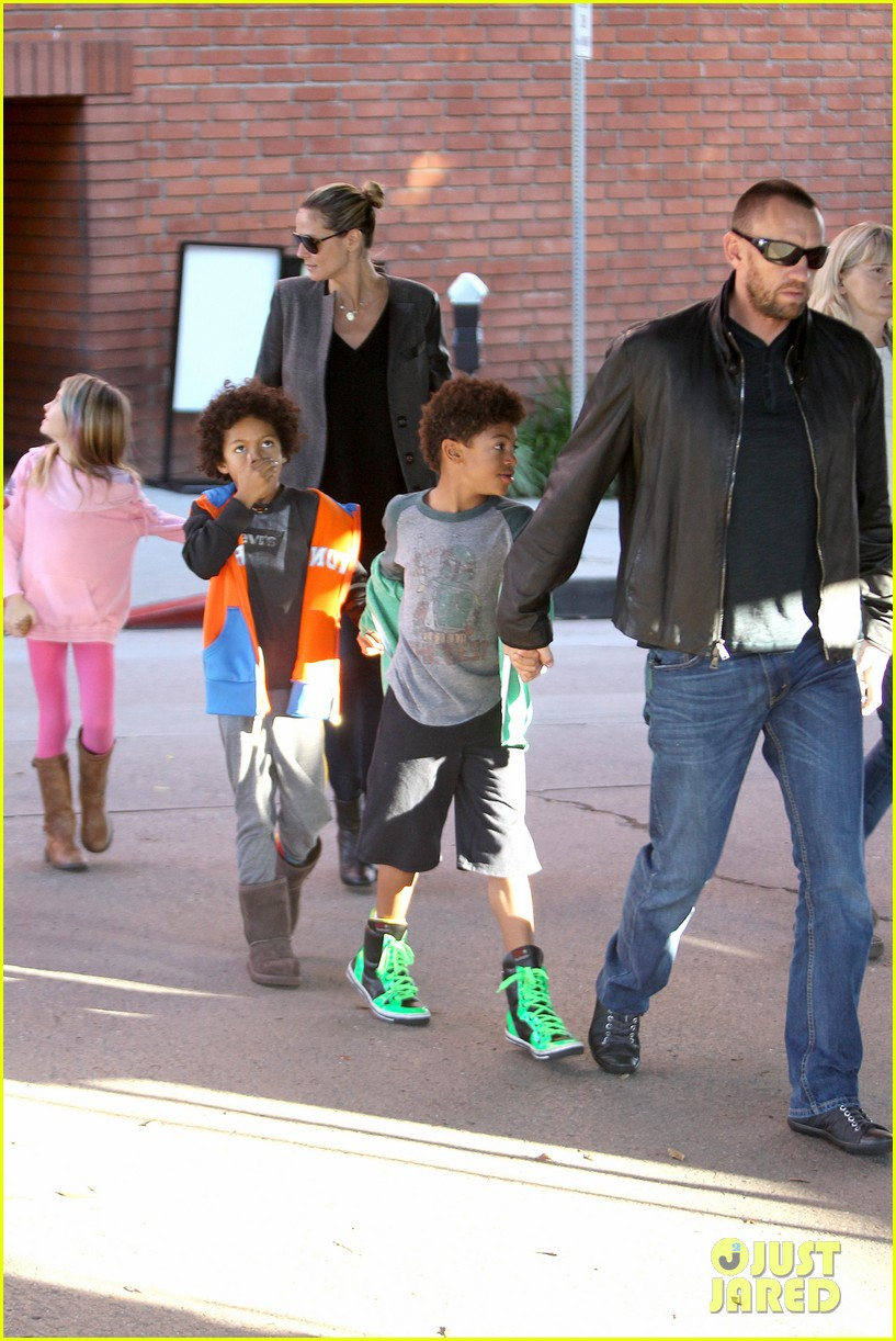 heidi klum martin kirsten lunch groceries with the kids 23