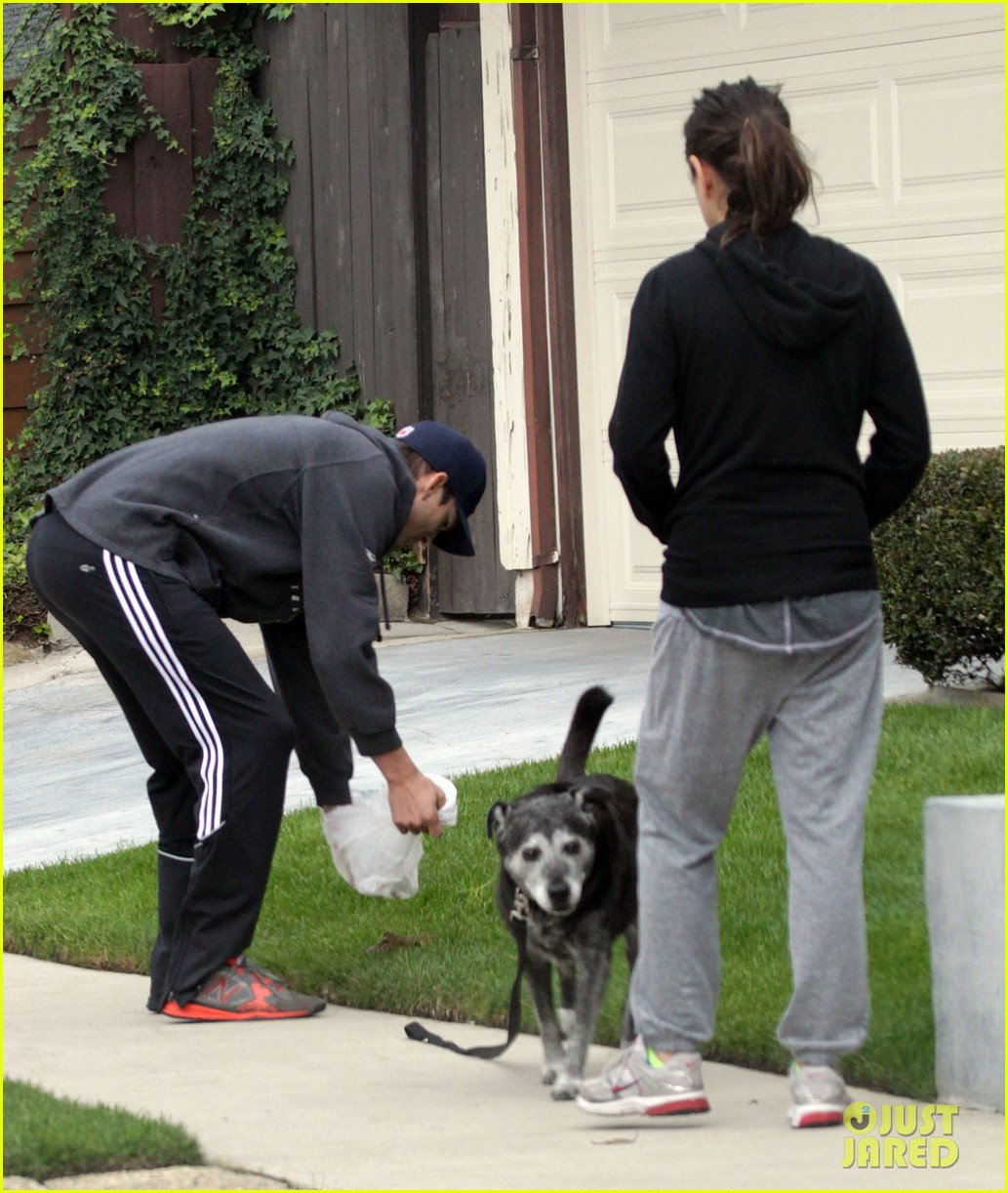 mila kunis ashton kutcher dog walk 212774908