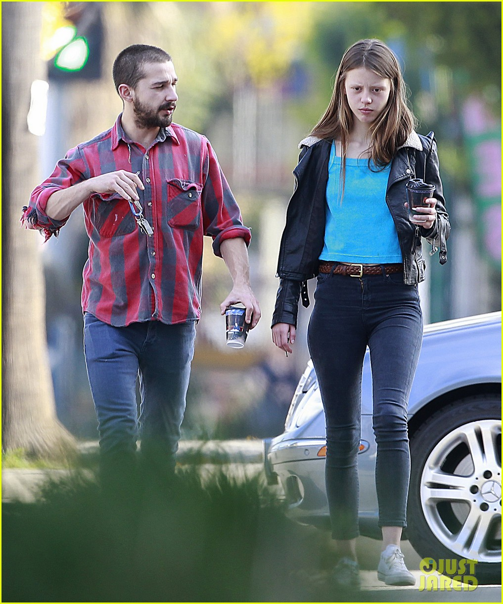 shia labeouf mia goth descanso gardens date 07