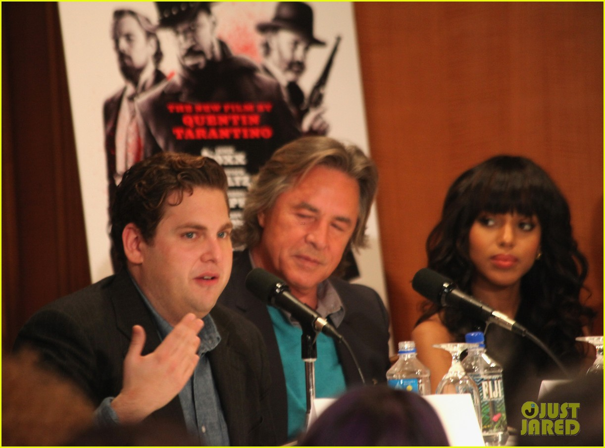 leonardo dicaprio kerry washington django unchained press conference 122776760
