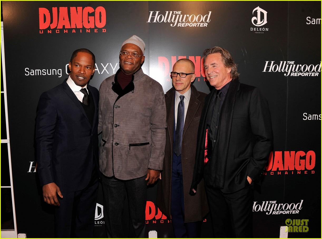 leonardo dicaprio & jamie foxx django unchained screening 15