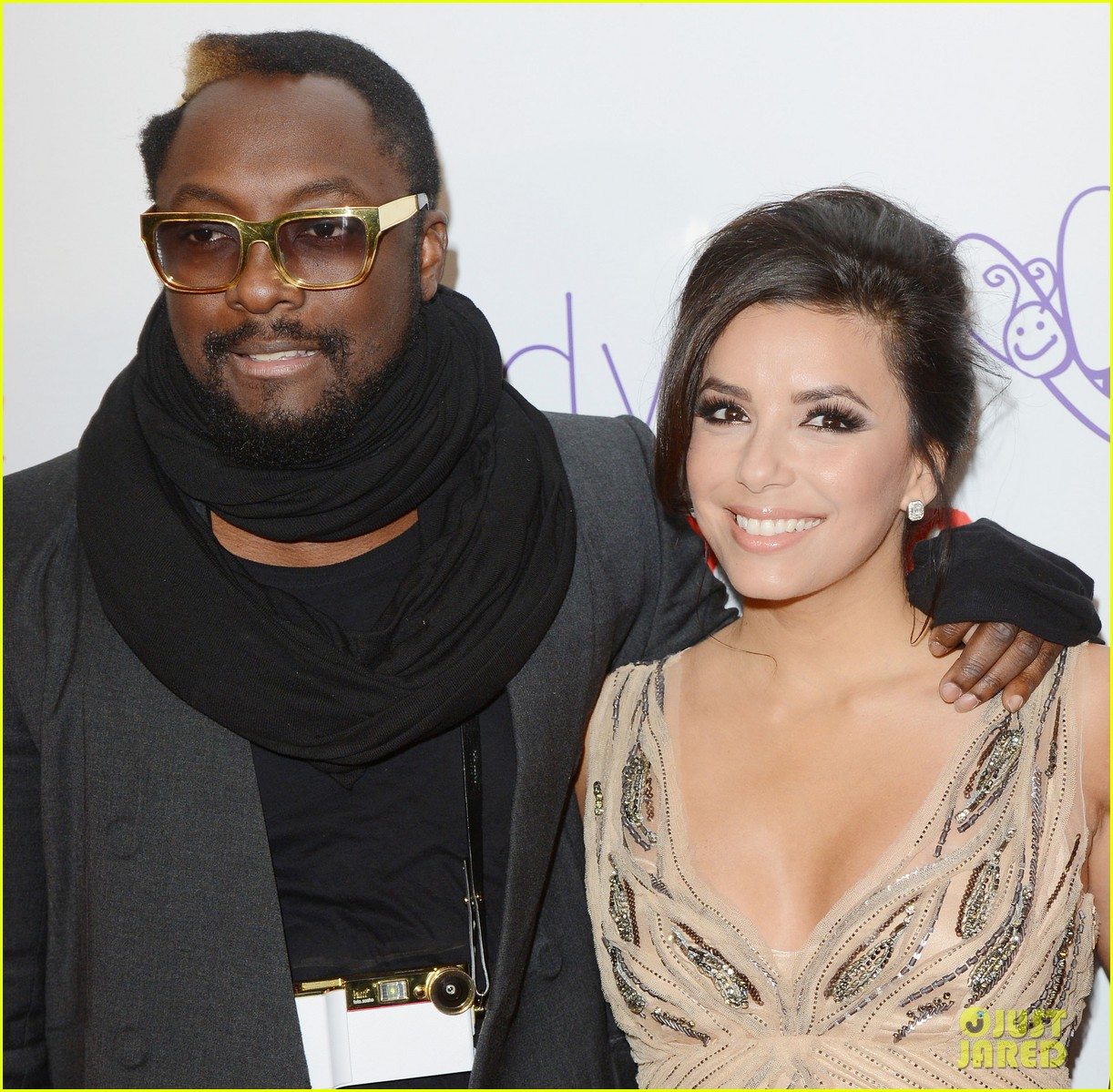 eva longoria noble gift gala with will i am 132772092