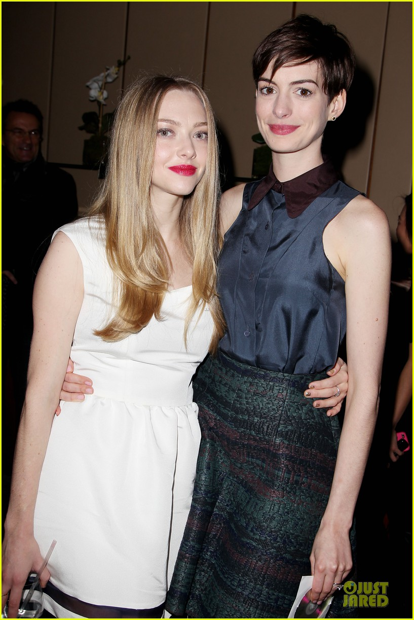 anne hathaway & amanda seyfriend les miserables luncheon 072773979