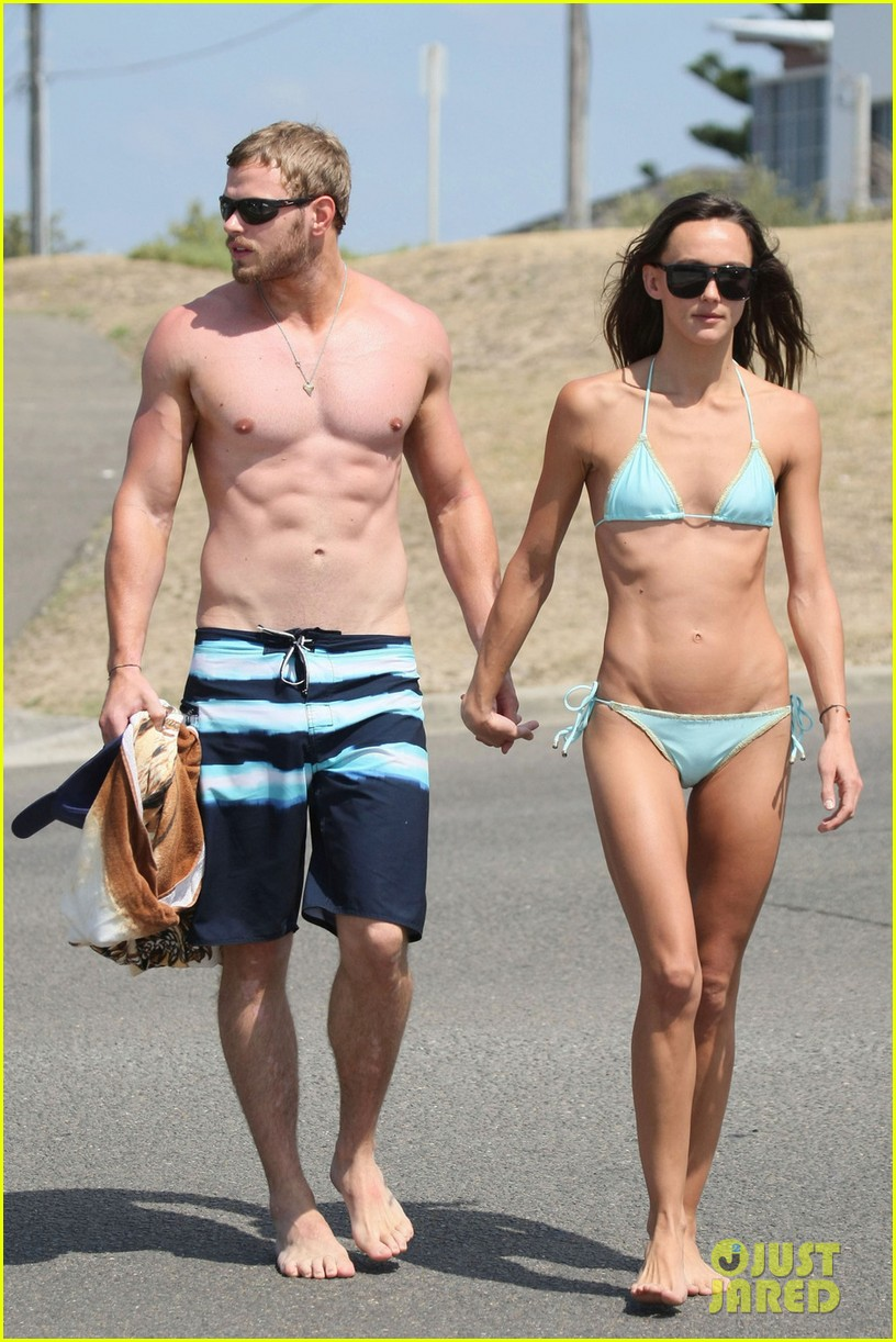 kellan lutz shirtless beach day with sharni vinson 012780288