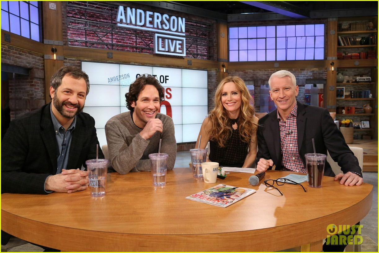 leslie mann paul rudd this is 40 crew visits anderson live 012778932