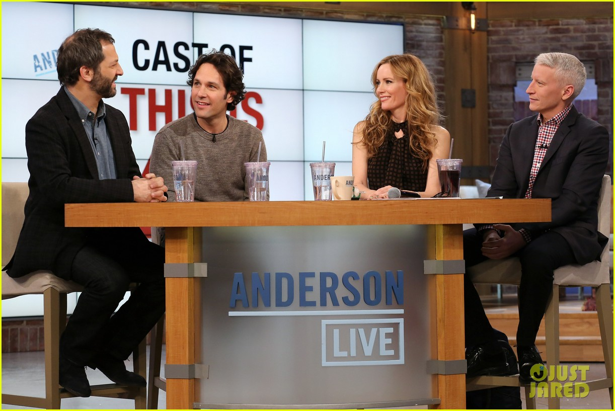 leslie mann paul rudd this is 40 crew visits anderson live 032778934