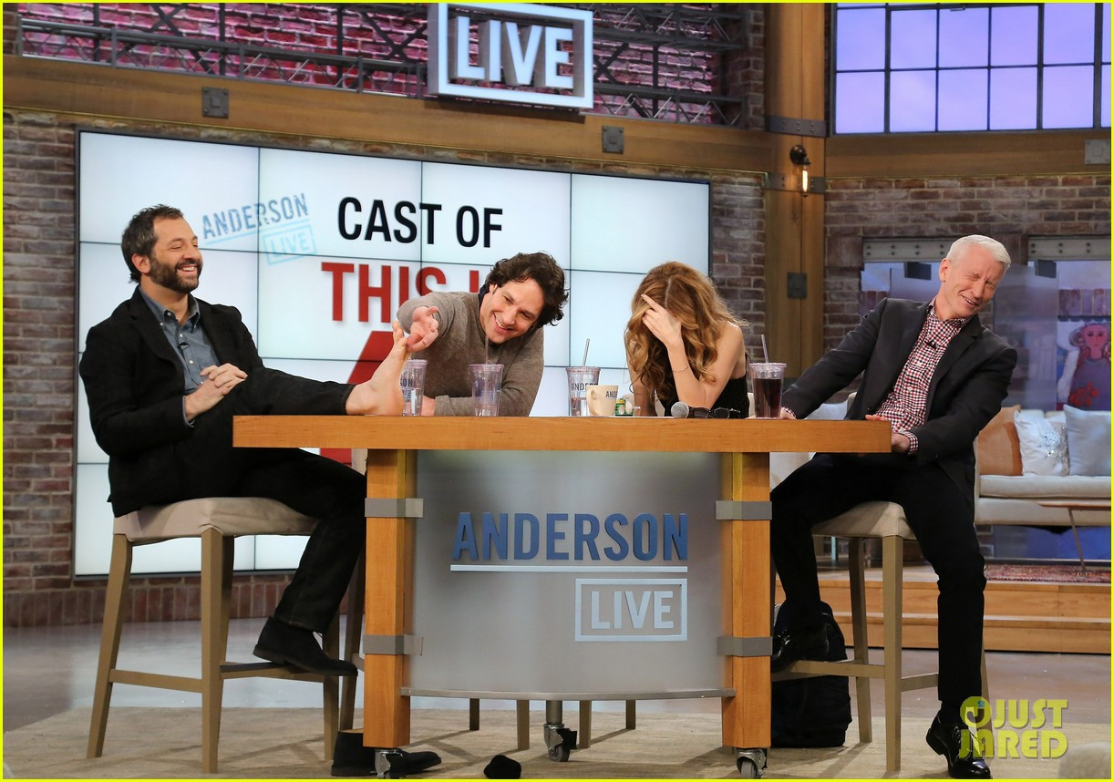 leslie mann paul rudd this is 40 crew visits anderson live 04