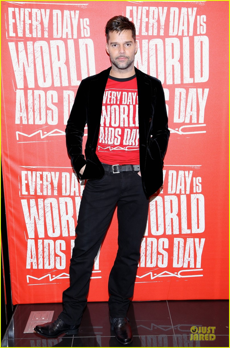ricky martin world aids day event 012767012