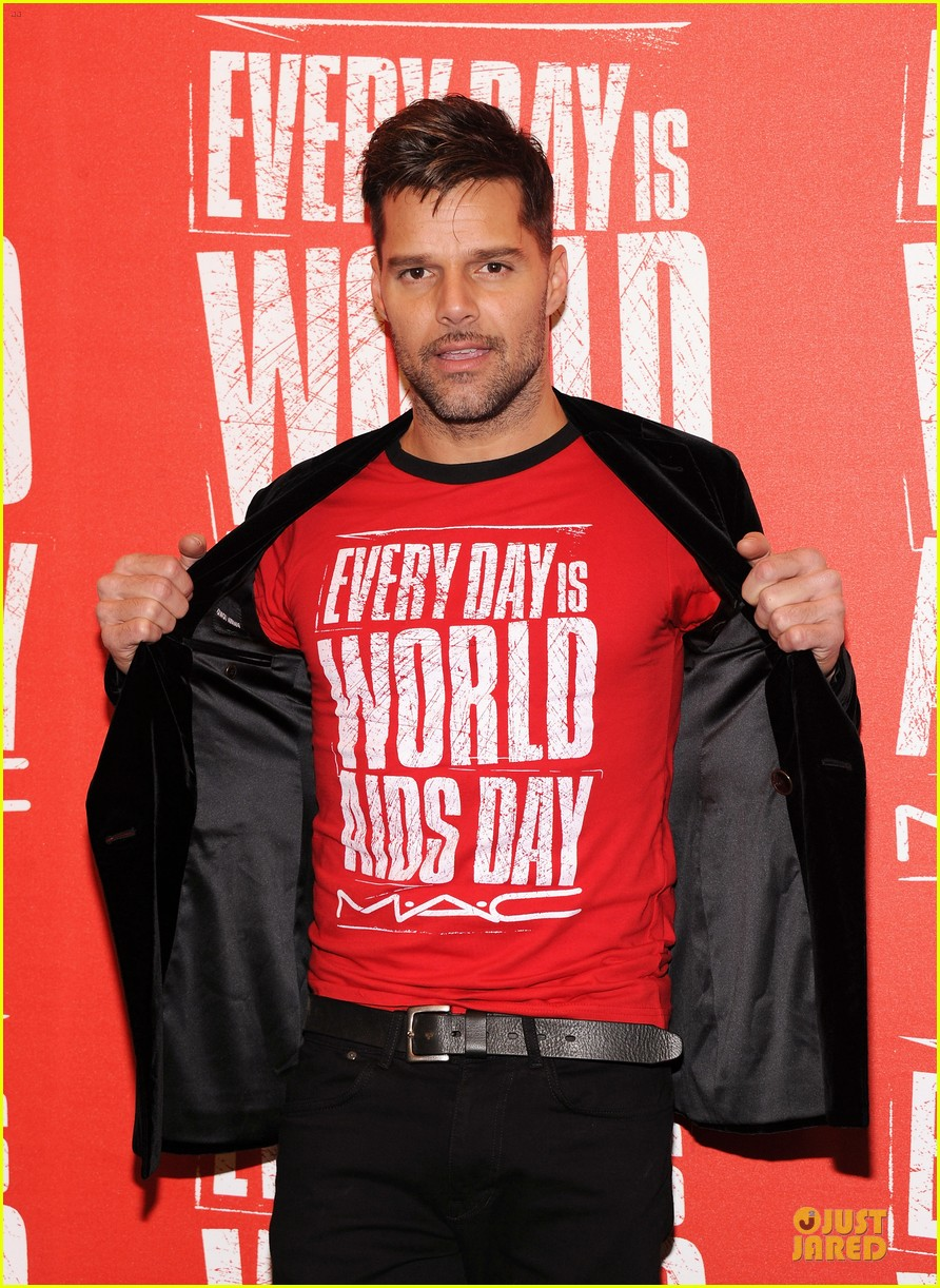 ricky martin world aids day event 022767013