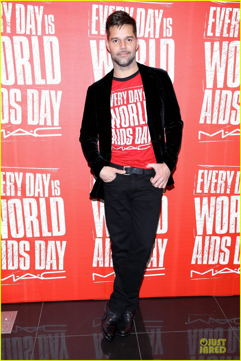 ricky martin world aids day event 08