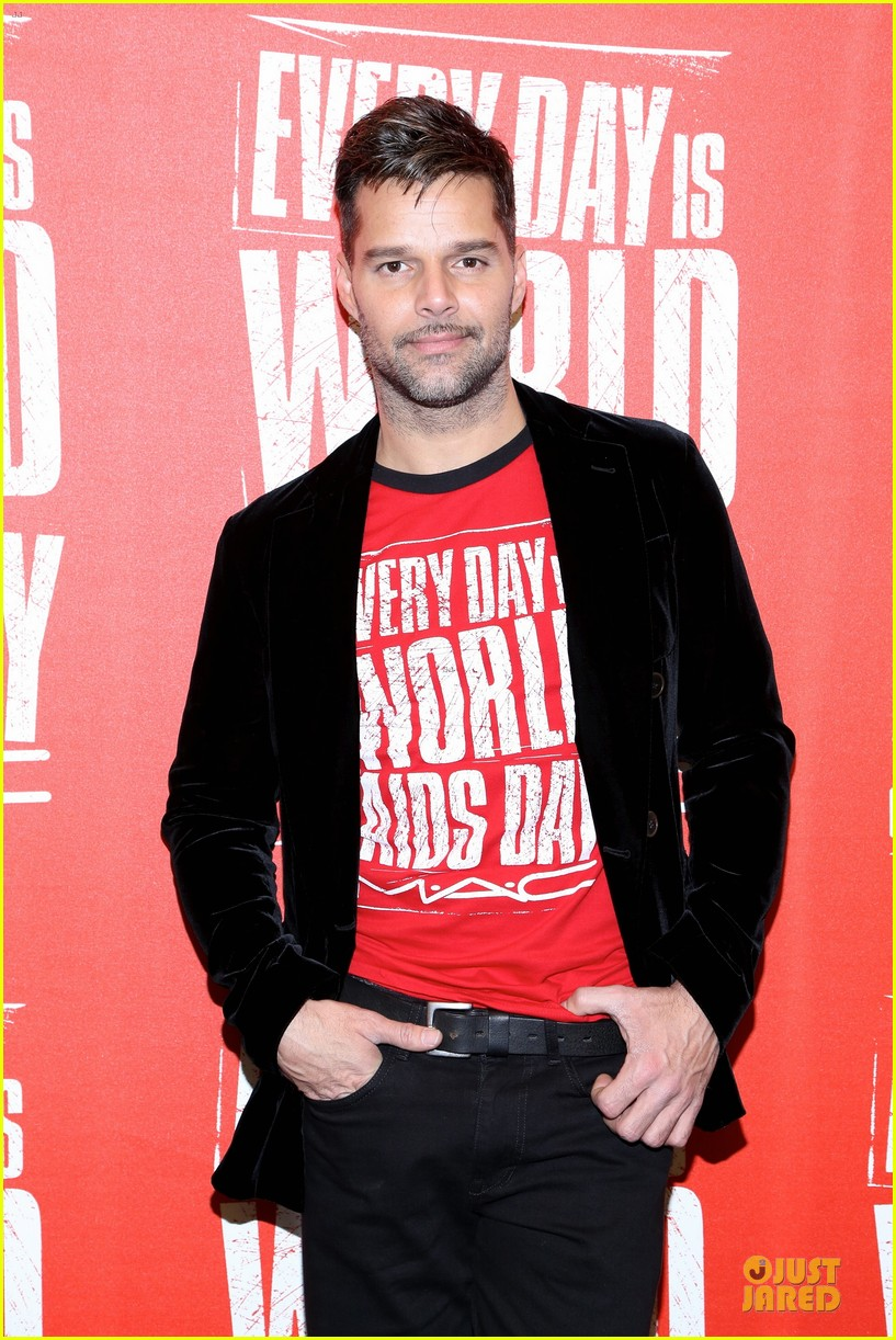 ricky martin world aids day event 09