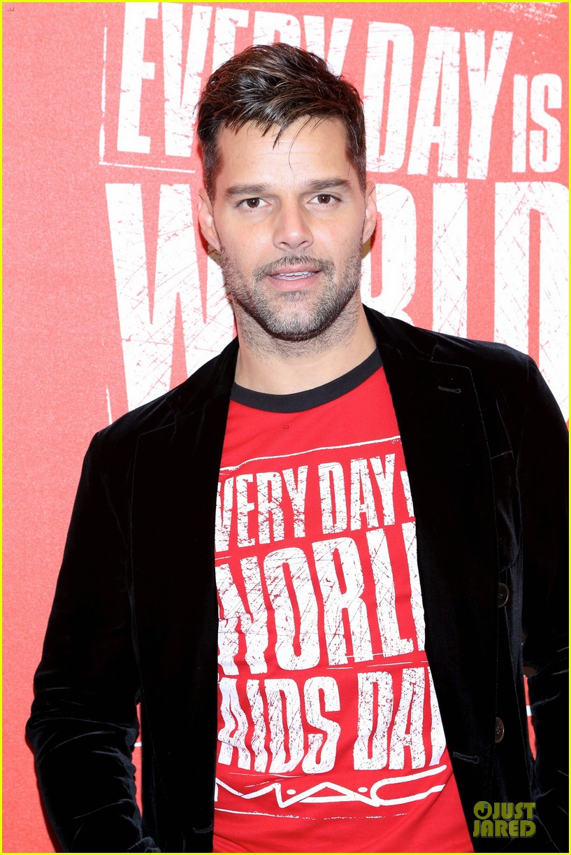 ricky martin world aids day event 10