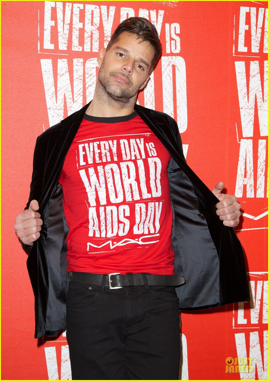 ricky martin world aids day event 122767023
