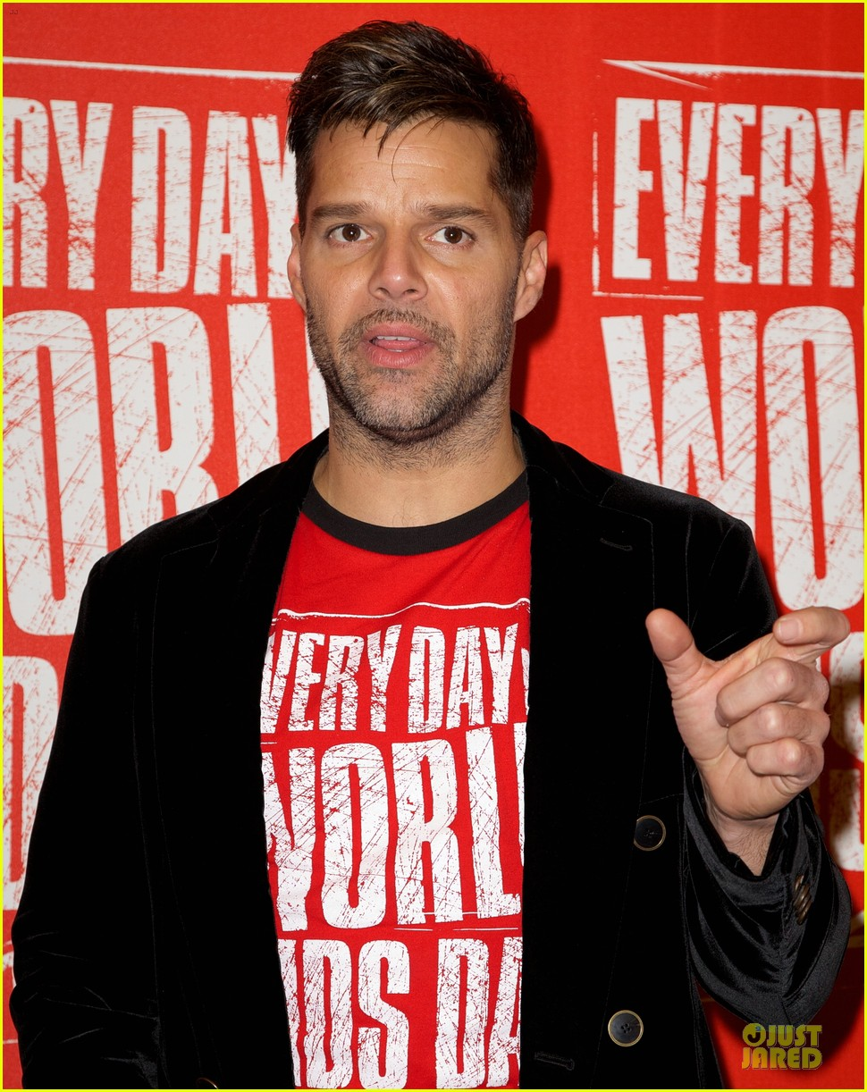 ricky martin world aids day event 18