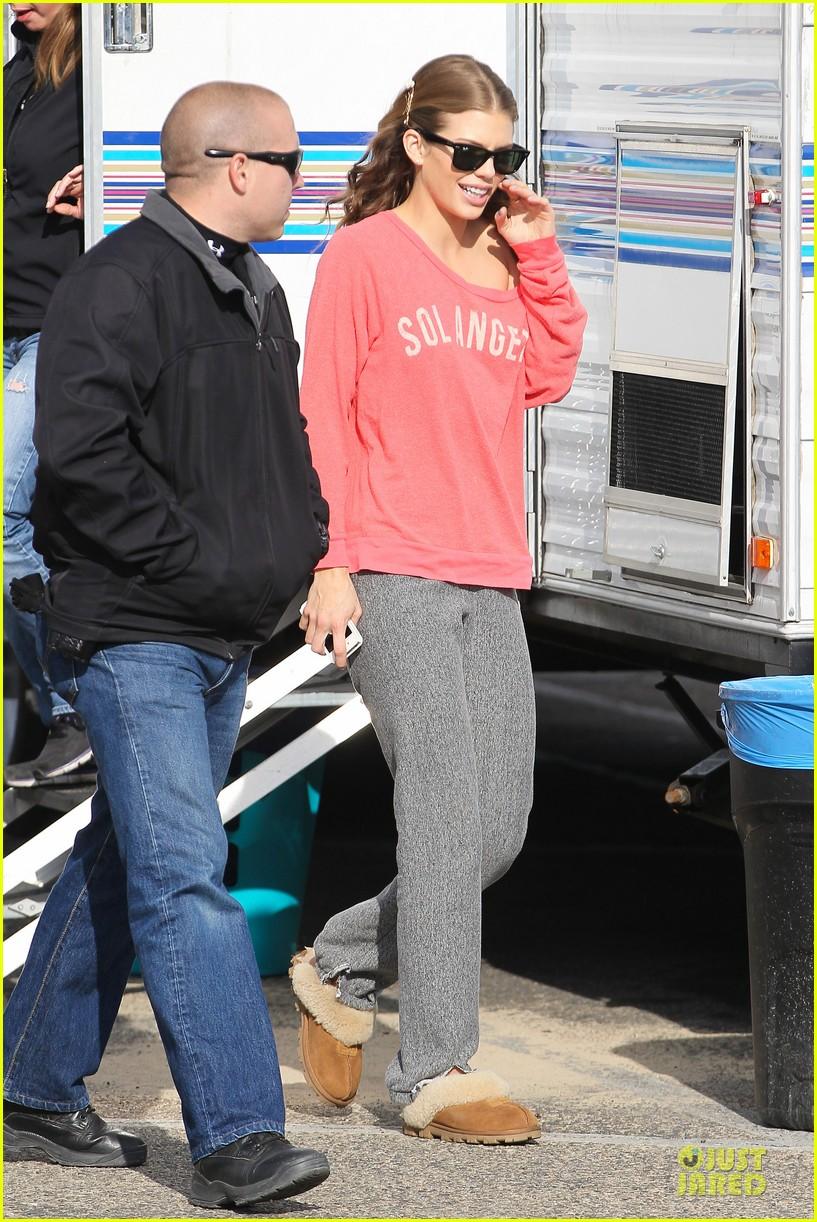 annalynne mccord bikini 90210 filming 18
