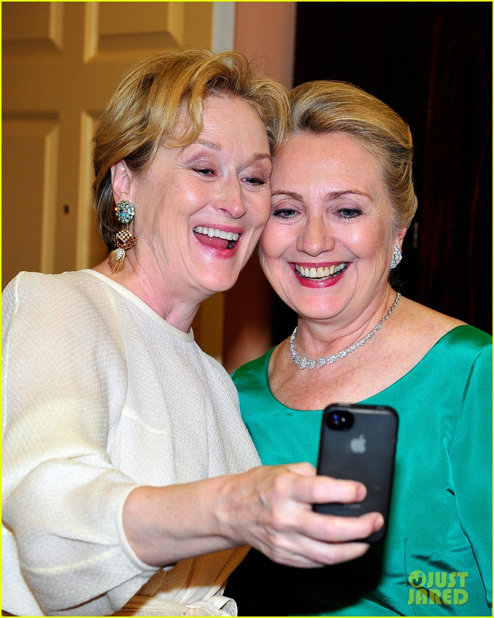 meryl streep hillary clinton say cheese for kennedy center honors 062767848