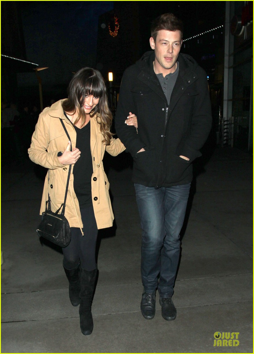 lea michele & cory monteith argo movie date 01