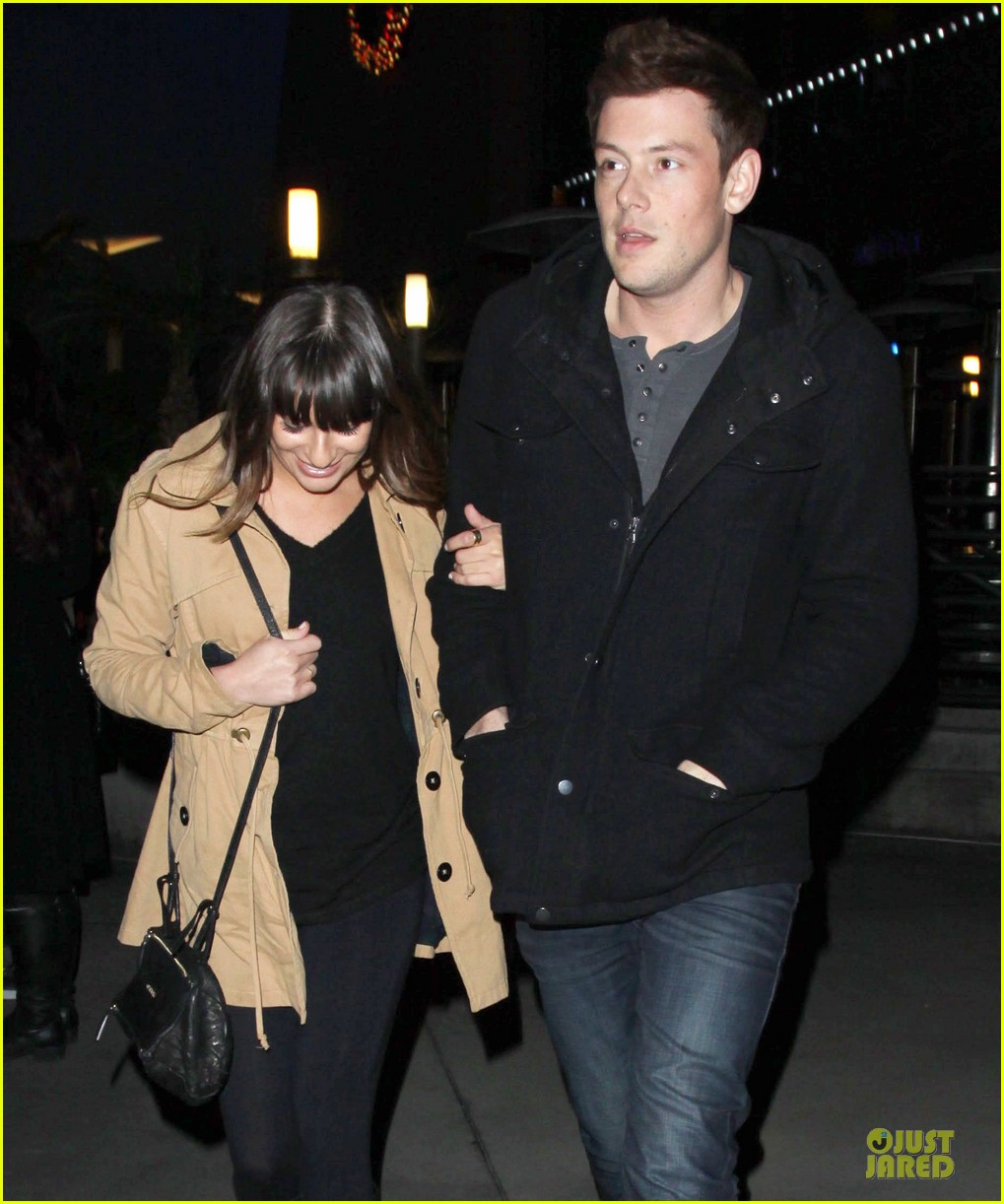 lea michele & cory monteith argo movie date 06