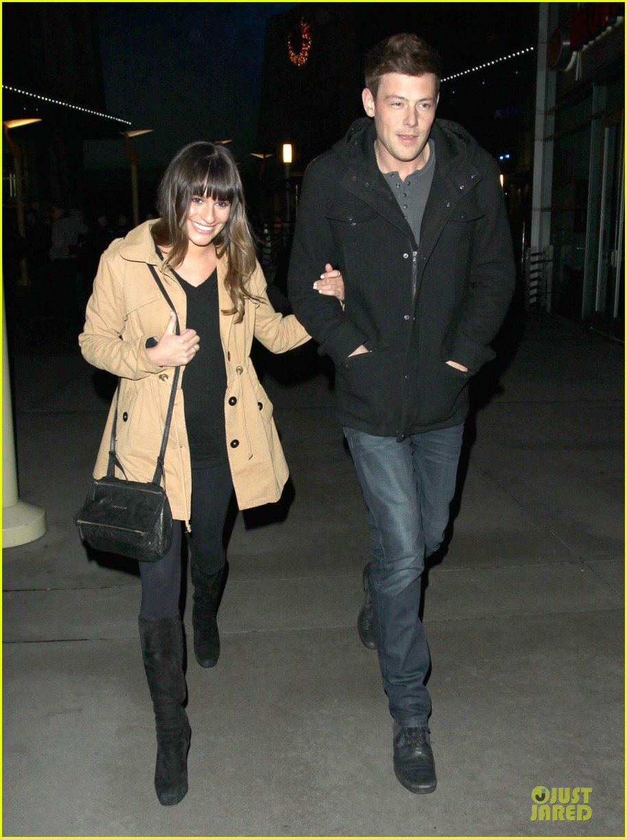 lea michele & cory monteith argo movie date 10