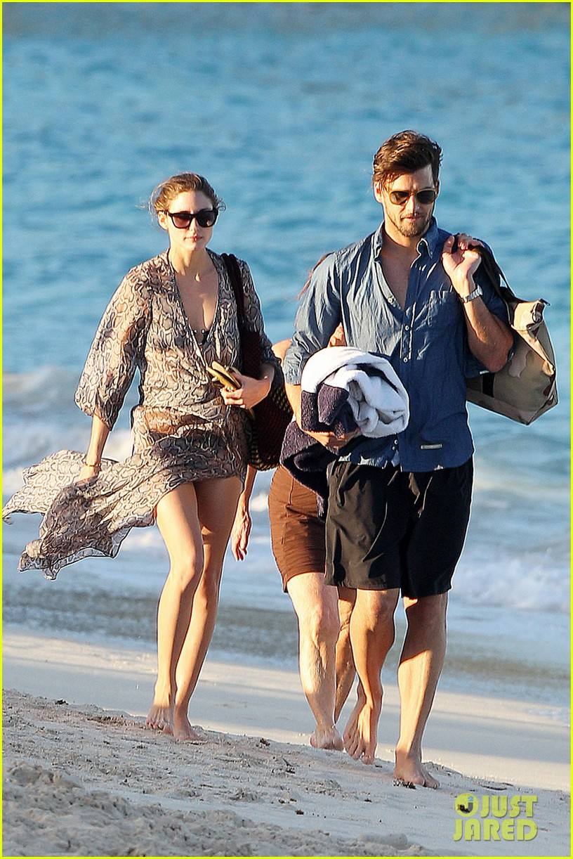 olivia palermo bikini beach with shirtless johannes huebl 132782257