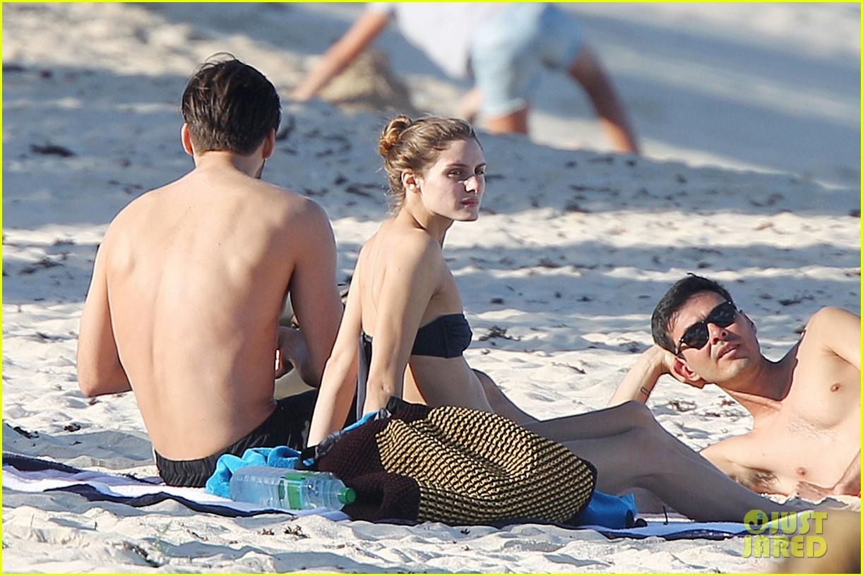 olivia palermo bikini beach with shirtless johannes huebl 142782258