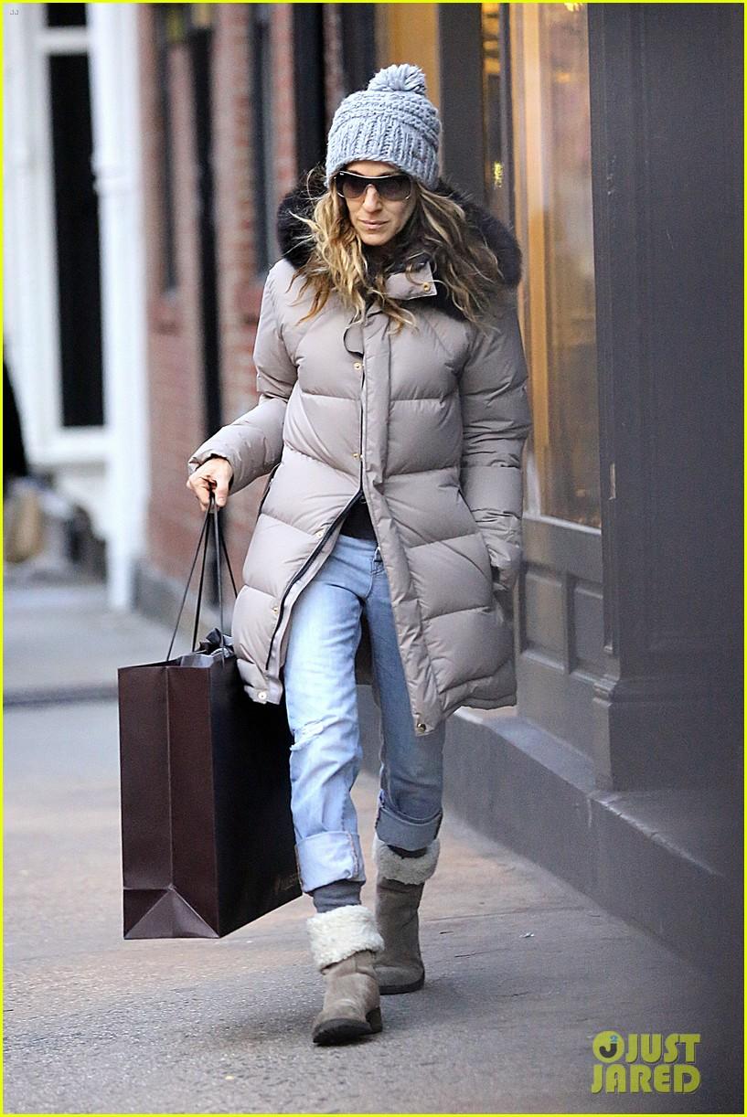 sarah jessica parker post christmas shopping 022782426