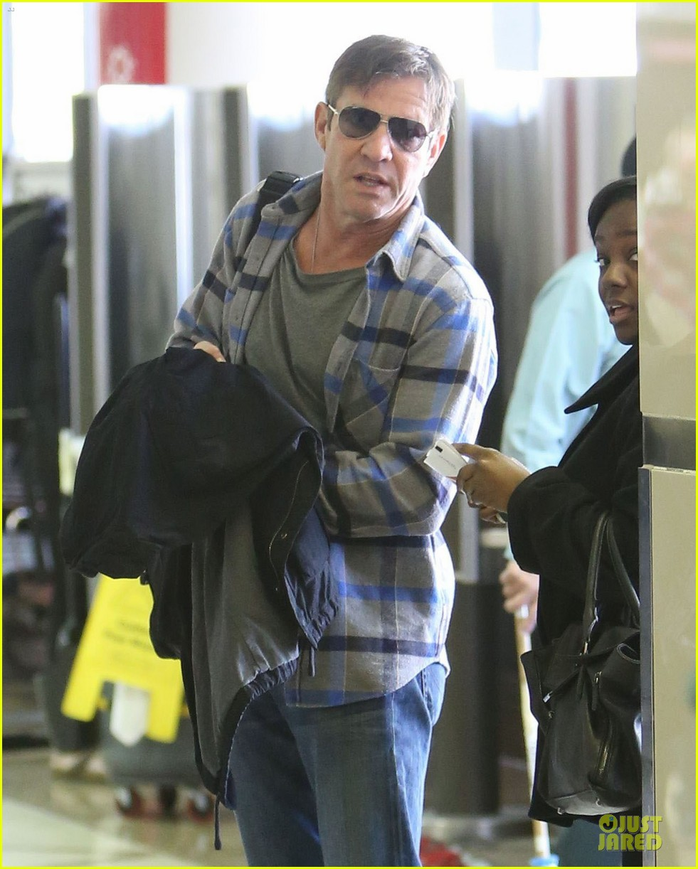 dennis quaid lax departure with a mystery woman 022781967
