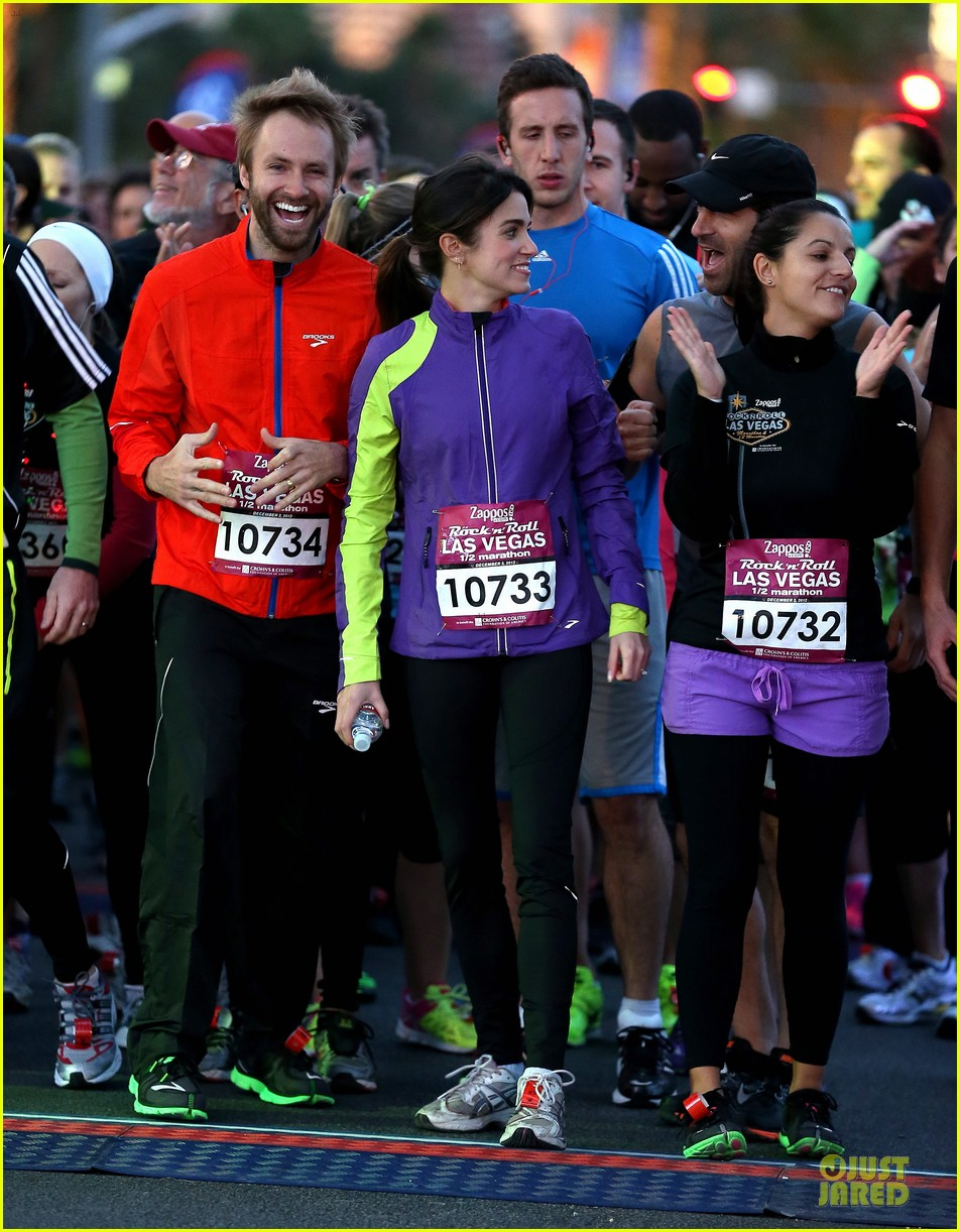 nikki reed & paul mcdonald rock n roll marathon & half marathon 112768384