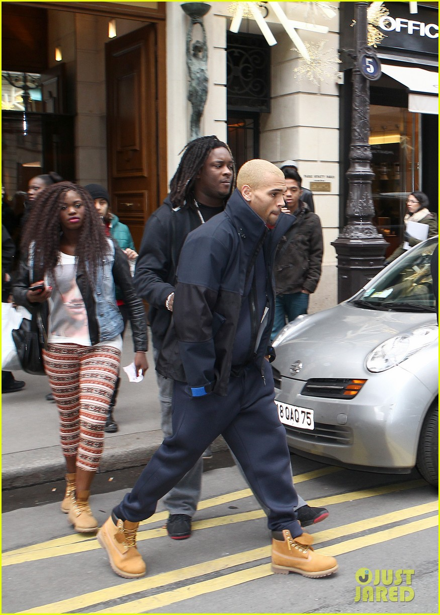 rihanna chris brown separate paris outings 072772888