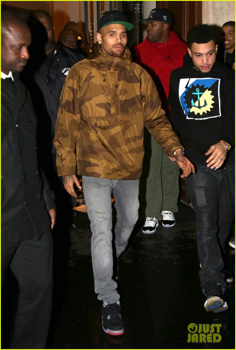 rihanna chris brown separate paris outings 09