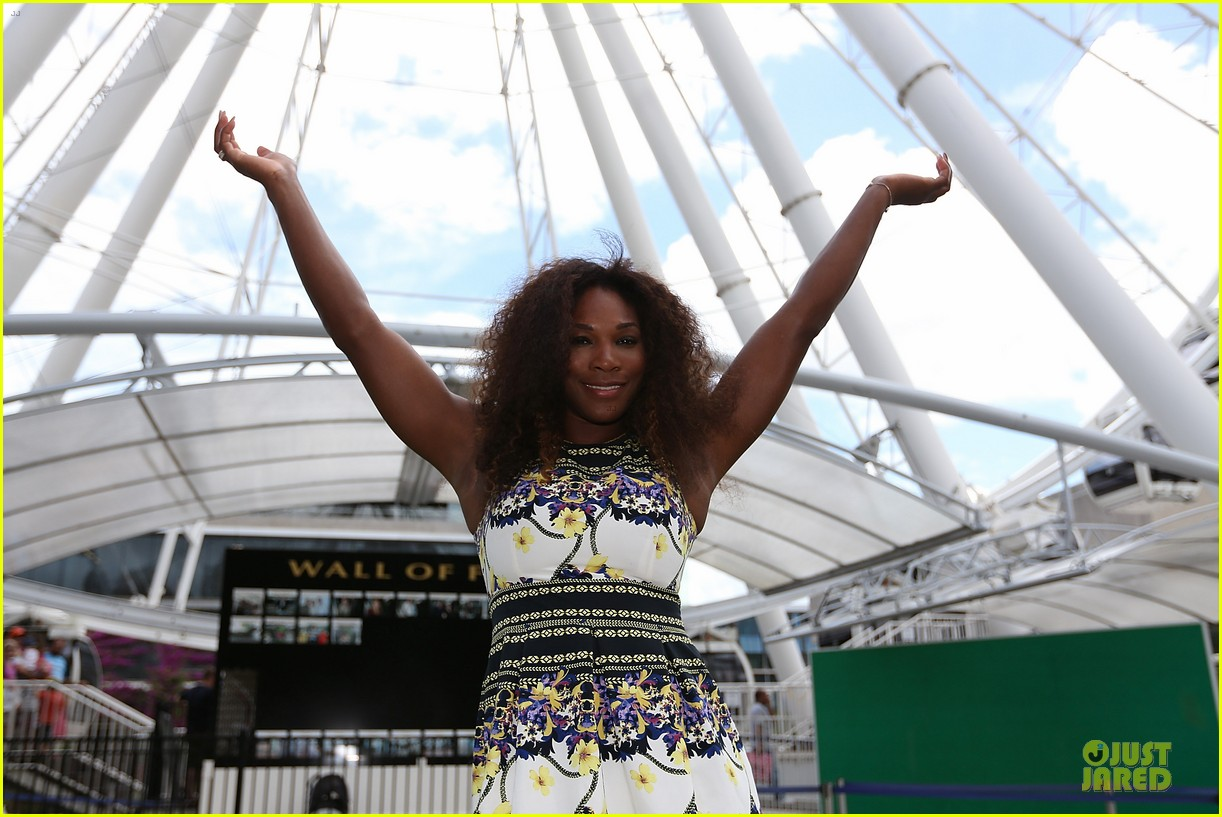 serena williams brisbane international arrival 17