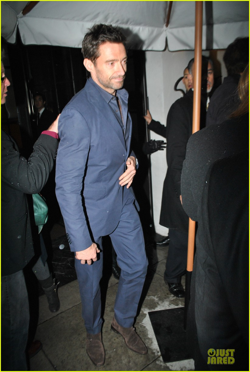 amanda seyfried & hugh jackman pre golden globes nominee party 082776382