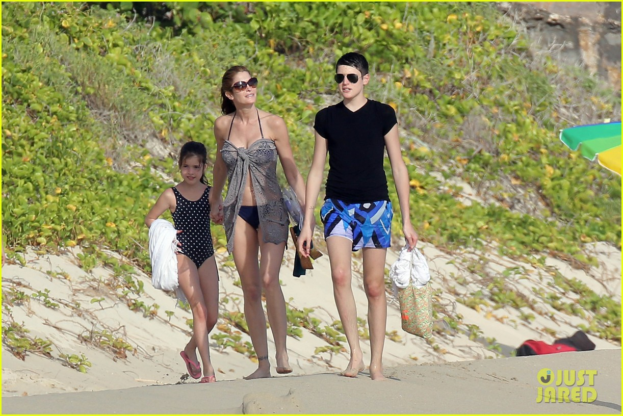stephanie seymour st barts family vacation 102780459